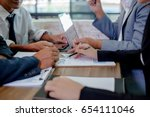business meeting time. working... | Shutterstock . vector #654111046