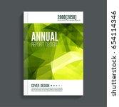 green cover for journal ... | Shutterstock .eps vector #654114346