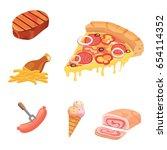 fat food vector icon... | Shutterstock .eps vector #654114352