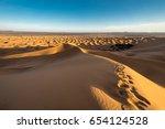 erg chebbi dune and oasis... | Shutterstock . vector #654124528