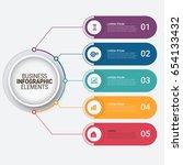 modern infographic options...   Shutterstock .eps vector #654133432