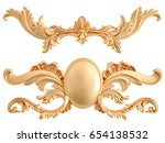 gold ornament on a white... | Shutterstock . vector #654138532