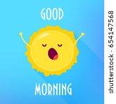 Cartoon Sun Stretches And Yawn...