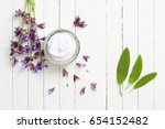 face cream with sage herbal... | Shutterstock . vector #654152482