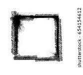 black grunge frame with tire... | Shutterstock .eps vector #654154612