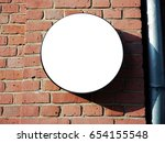 signboard side view of empty... | Shutterstock . vector #654155548