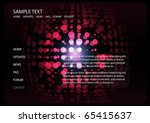 vector abstract  techno pattern ... | Shutterstock .eps vector #65415637