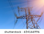 support of electro transmission ...   Shutterstock . vector #654166996