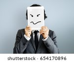 drawing facial expressions... | Shutterstock . vector #654170896