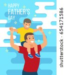 happy father's day flyer ... | Shutterstock .eps vector #654171586