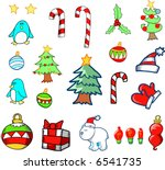 christmas holiday set vector... | Shutterstock .eps vector #6541735