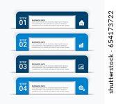 modern infographic startup... | Shutterstock .eps vector #654173722