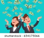 vector illustration of happy... | Shutterstock .eps vector #654175066