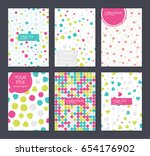 set of six covers with... | Shutterstock .eps vector #654176902