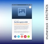 reporting news ui app design ... | Shutterstock .eps vector #654178426