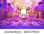 luxury decorated with flowers... | Shutterstock . vector #654179032