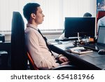 young business manager in the... | Shutterstock . vector #654181966