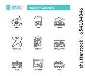 flat symbols about public... | Shutterstock .eps vector #654184846