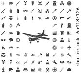 plane icon. set of weapon icons | Shutterstock .eps vector #654187126