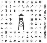 Observation Post Icon. Set Of...