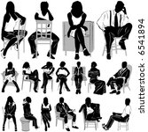 sitting people vector  clothes... | Shutterstock .eps vector #6541894