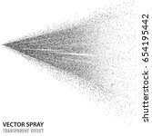 tansparent water spray cosmetic ... | Shutterstock .eps vector #654195442