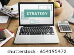 business strategy plan... | Shutterstock . vector #654195472