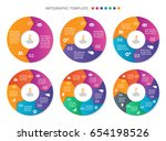 set of vector circle arrows for ... | Shutterstock .eps vector #654198526