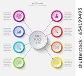 multicolored circular... | Shutterstock .eps vector #654199495