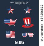 independence day 4th of july... | Shutterstock .eps vector #654206812