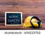 standard construction safety... | Shutterstock . vector #654223702