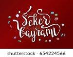 vector isolated handwritten... | Shutterstock .eps vector #654224566
