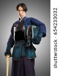 Male In Tradition Kendo Armor...