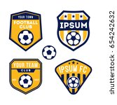 football and soccer logo badge... | Shutterstock .eps vector #654242632