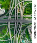 elevated expressway. the curve...   Shutterstock . vector #654247342