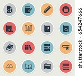 vector illustration set of... | Shutterstock .eps vector #654247666