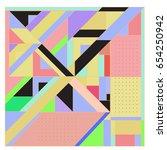 trendy geometric elements... | Shutterstock .eps vector #654250942