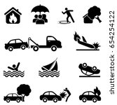 accident and protection icon set | Shutterstock .eps vector #654254122
