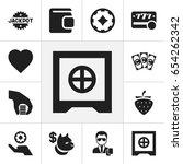 set of 12 editable casino icons....
