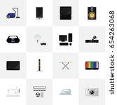 set of 16 editable technology...