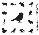 set of 12 editable zoology... | Shutterstock .eps vector #654264766