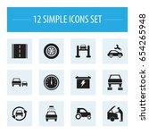 set of 12 editable transport...