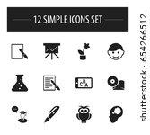 set of 12 editable education...