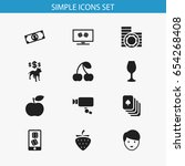set of 12 editable casino icons....