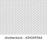 vector hexagon honeycomb... | Shutterstock .eps vector #654269566