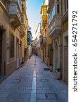 Old Narrow Street In Malta C...