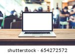 modern computer laptop with... | Shutterstock . vector #654272572