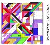 trendy geometric elements...   Shutterstock .eps vector #654276526