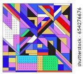 trendy geometric elements...   Shutterstock .eps vector #654276676