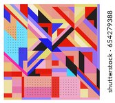 trendy geometric elements... | Shutterstock .eps vector #654279388